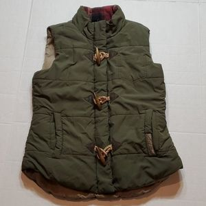 Legendary Green quilted vest Women's Size Small